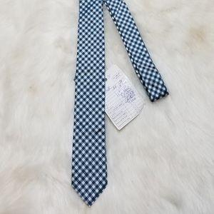 Banana Republic 100% Silk Tie Blue Checked New